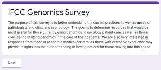 IFCC WG GCP Survey for Genomics in Oncology